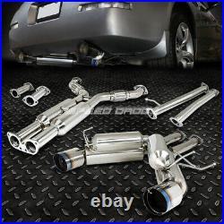 Stainless Dual Cat Back Exhaust 4.5 Tip Muffler For Nissan 350z Infiniti G35