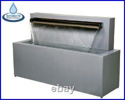 Stainless Steel Blade Waterfall Fountain Modern Jet Water Feature Cascade 70cm
