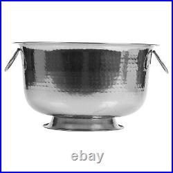 Stainless Steel Footed Champagne Metal Bucket Party Bowl Wine Beer Ice Cooler