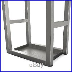 Stainless Steel Log Store Firewood Metal Stand Fire Wood Rack Storage Unit