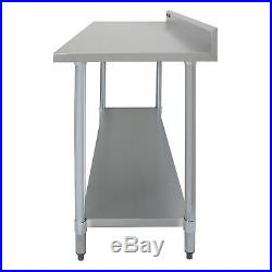 Stainless Steel Premium Catering Table Work Bench Commercial Kitchen Prep Area