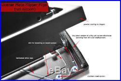Stainless steel flipper license plate anti camera flip EU revolving number frame