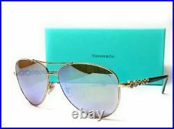 TIFFANY TF3049B 609164 Pale Gold Brown Mirror Women's Sunglasses 58 mm