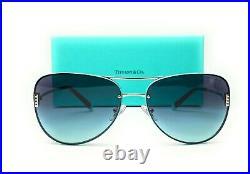 TIFFANY TF3066 60019S Silver Azure Gradient Blue Women Sunglasses 62 mm