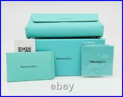 Tiffany & Co. TF3064 6001/9S Cat Eye Silver Blue Gradient Sunglasses 61mm withBox