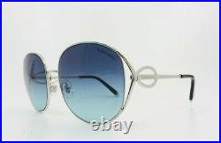 Tiffany & Co. Women's Round Silver Sunglasses New withBox TF 3065 6047/9S 56mm