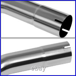 Universal 16pcs 2.5od Stainless Diy Mandrel Exhaust Pipe Piping Straight U-band