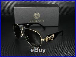 VERSACE VE2150Q 100271 Gold Grey Green 62 mm Men's Sunglasses