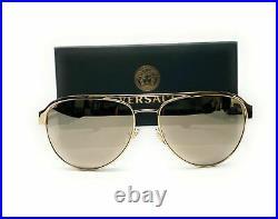 VERSACE VE2165 12525A Pale Gold Light Brw Mirror Women's Sunglasses 58 mm