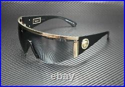 VERSACE VE2197 12526G Pale Gold Grey Mirror Black 40 mm Unisex Sunglasses