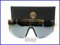 VERSACE VE2197 12526G Pale Gold Grey Mirror Men's Sunglasses 40 mm