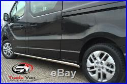 Vauxhall Vivaro Side Bars Sportline Quality Stainless Steel Sidebars Lwb Ss001
