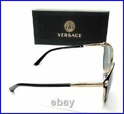 Versace VE2168 1377T3 Black Gold Women's Phantos Polarized Sunglasses 57-16
