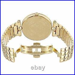 Versace VK7250015 Women's VANITAS Gold-Tone Quartz Watch