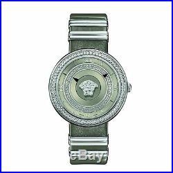 Versace VLC120016 Women's V-METAL ICON Silver-Tone Quartz Watch