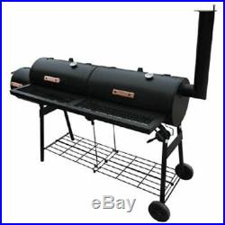 VidaXL Smoker BBQ Nevada XL Black Outdoor Cooking Double Grill Box Appliance