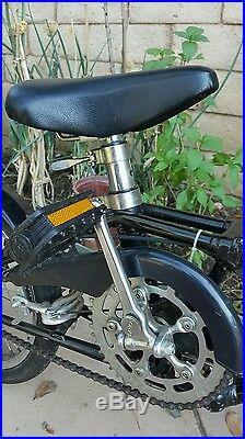 Vintage 1980s Dahon Stainless Steel 3 Speed Sturmey Archer Folding Bike Metallic