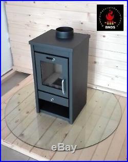 Wood Burning/Multi Fuel Stove 7-11 kW Fireplace Log Burner Top Flue BlmSchV 2 EU