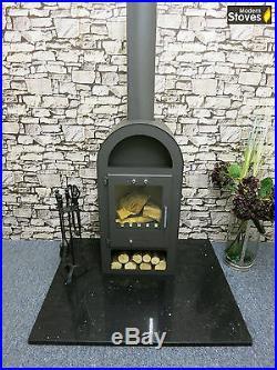 Wood Burning Multi fuel, Henley Stove 10kw Burner Modern Stoves