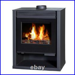 Wood Burning Stove 16kw Ruben Black Multi-fuel Log Burner