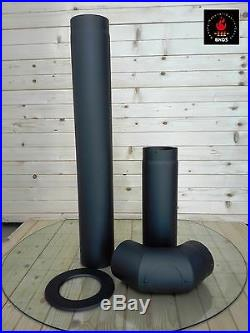 Wood Burning Stove 9-13 kW Fireplace Log Burner RAY Top Flue EU New with legs