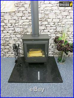 Wood Burning Stove Black Contemporary 18kw iStove Lux Wood Burner Multifuel