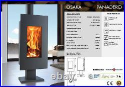 Wood Burning Stove Osaka 8kw Contemporary Style Multi Fuel Modern Stoves