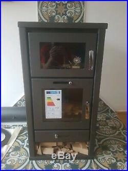 Wood Burning Stove Oven Fireplace Cooker Solid Fuel Log Burner Woodburning 11kw